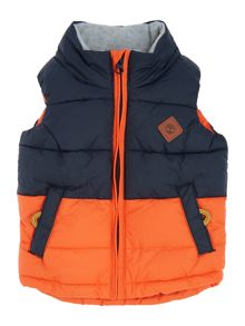 Timberland Baby boys hooded sleeveless puffer jacket