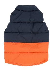 Baby boys hooded sleeveless puffer jacket