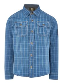 Timberland Boys long sleeve checked shirt