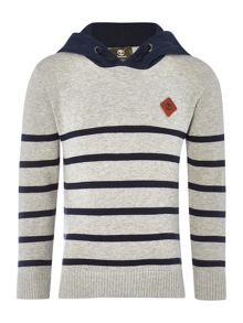 Timberland Boys hooded striped sweater