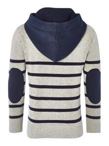 Boys hooded striped sweater