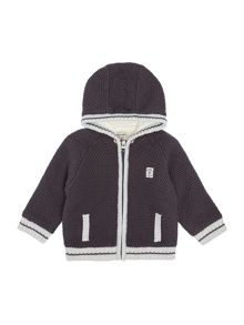 Timberland Baby boys hooded knitted cardigan