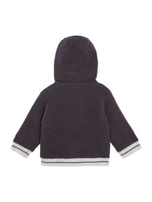 Baby boys hooded knitted cardigan