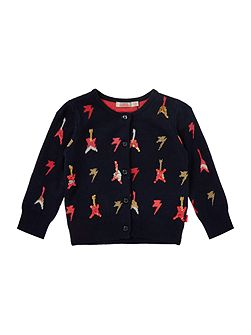 Baby girls all over printed cardigan