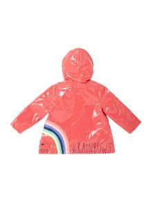 Baby girls hooded rain coat