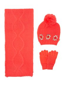 Billieblush Baby girls winter hat and scarf set
