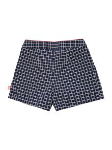 Girls checked shorts