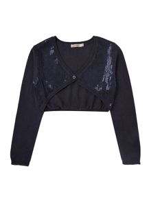 Girls cardigan with sequins