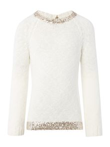 Billieblush Girls sweater with sequins