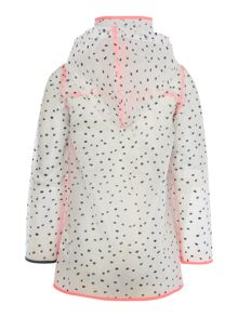 Girls hooded rain coat