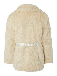 Billieblush Girls faux fur coat