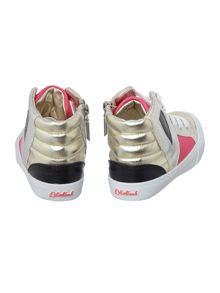 Girls silver trainers