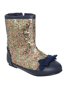 Girls zipped glitter boots