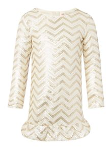Billieblush Girls metallic wave dress