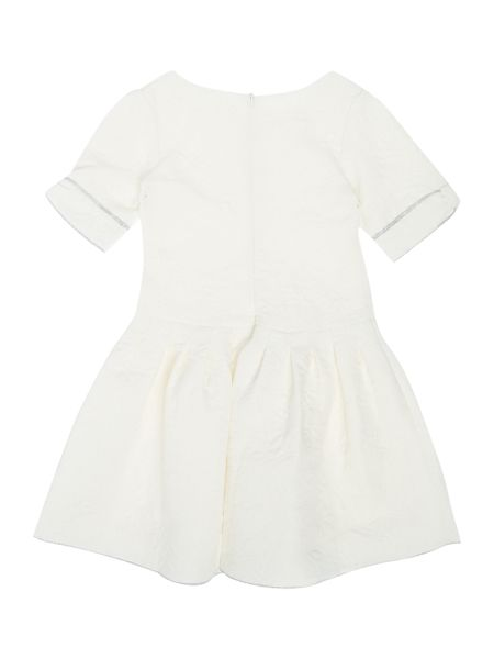 Carrement Beau Girls jacquard couture dress