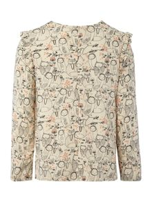 Carrement Beau Girls printed blouse
