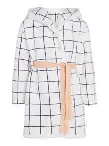 Carrement Beau Girls velvet bathrobe