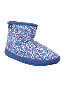 Joules Girls Ditsy Print Cotton Slipper Sock