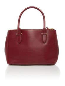 Newbury burgundy medium double zip tote