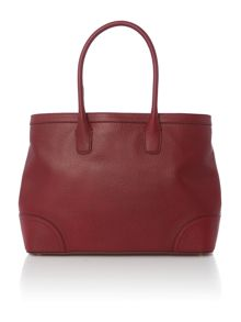 Fairfield large burgundy tote