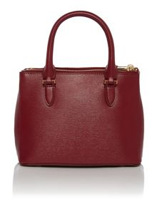 Newbury Mini Burgundy double zip tote