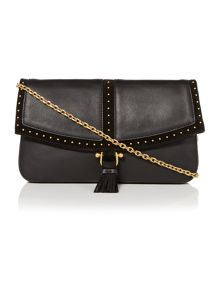 Bastwick large black clutch