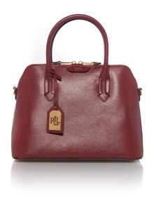 Tate burgundy dome satchel