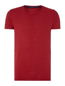 Sisley Men Plain Crew Neck Regular Fit T-Shirt