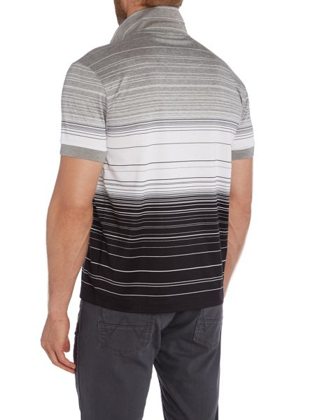 Hugo Boss Paddy Regular Fit Mercerised Stripe Polo Shirt