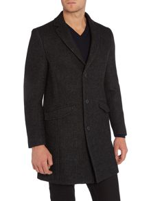 Sisley Men Classic Wool Overcoat