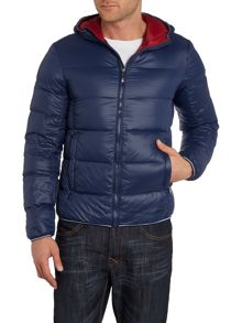 Sisley Men Padded Hooded Jacket