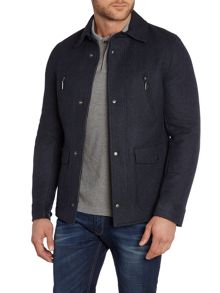 Sisley Men Reversible Padded & Wool Coat