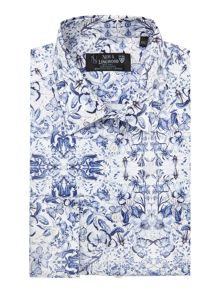 New & Lingwood Allington Butterfly Print Shirt
