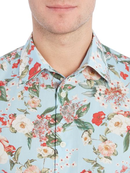 New & Lingwood Bolton Flower Print Shirt