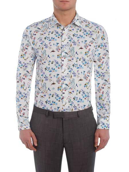 New & Lingwood Pagnell Bird Print Shirt