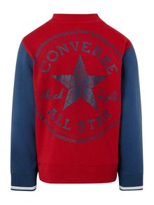 Converse Boys Sweatshirt Baseball Jacket