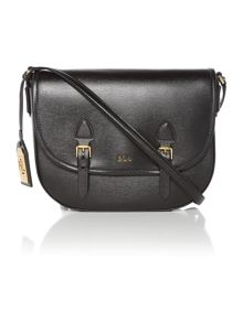 Lauren Ralph Lauren Tate black satchel bag