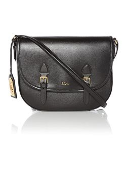 Tate black satchel bag