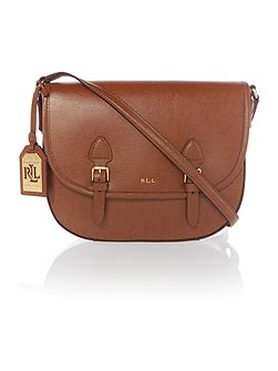 Tate tan satchel