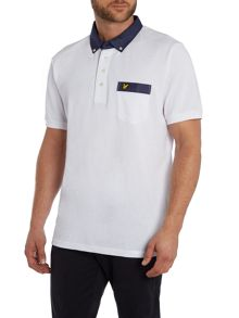 Lyle and Scott Woven Collar Polo Shirt