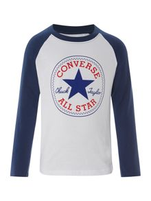 Converse Boy`s Long Sleeve T-Shirt With All Star Graphic