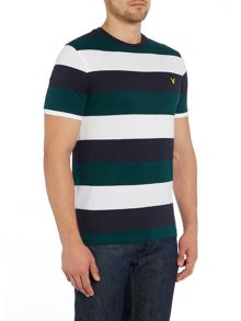 Block Stripe Crew Neck T-Shirt