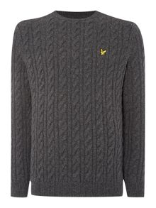 Cable Crew Neck Pull Over Jumper