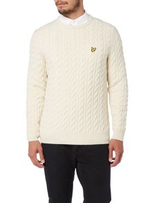 Lyle and Scott Cable Crew Neck Pull Over Jumper