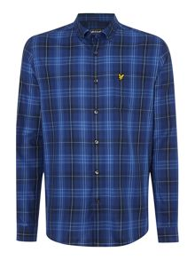 Lyle and Scott Long Sleeve Tartan Twill Classic Collar Shirt
