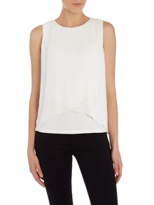 Vince Camuto Sleeveless top with cross over layers