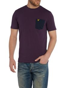 Contrast Pocket Crew Neck T-Shirt