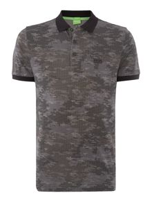Hugo Boss Paddy 4 Regular Fit Camo Print Polo Shirt