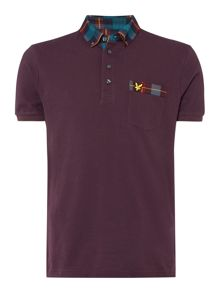 Lyle and Scott Tartan Collar Polo Shirt