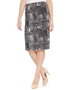 Vince Camuto Pencil skirt in cityscape print